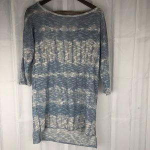 A pea in the pod knit open back half sleeve tunic